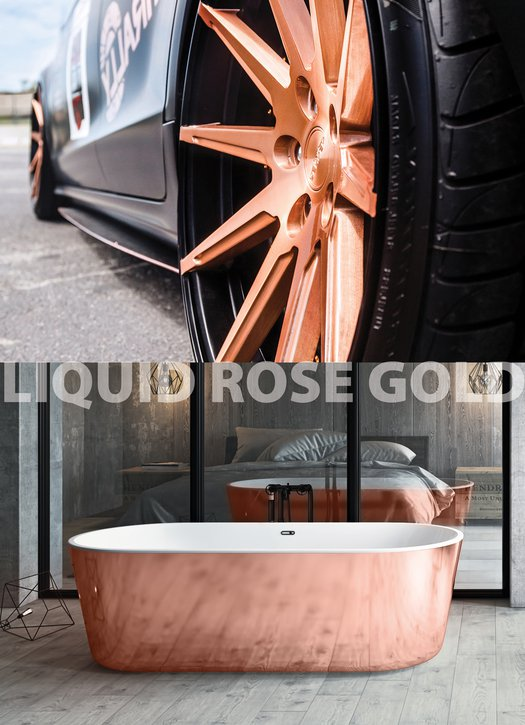 Livingston Liquid Rose Gold vrijstaand bad