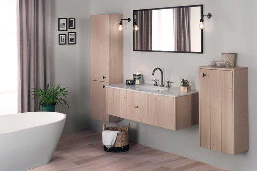 Lodge badkamer ensemble in strak landelijke stijl
