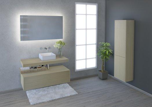 Belle salle de bain avec mobilier moderne