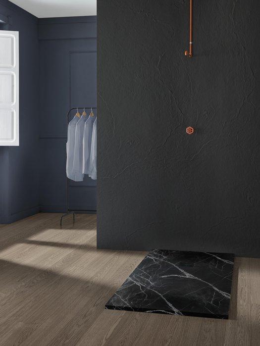 Tub de douche tendance imitation marbre pour la salle de bains design