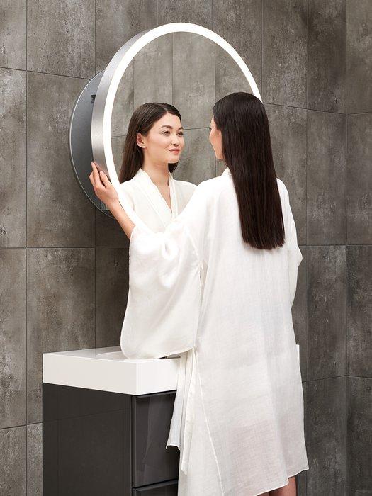Meilleur position pour regarder dans un miroir, dia. 80 cm