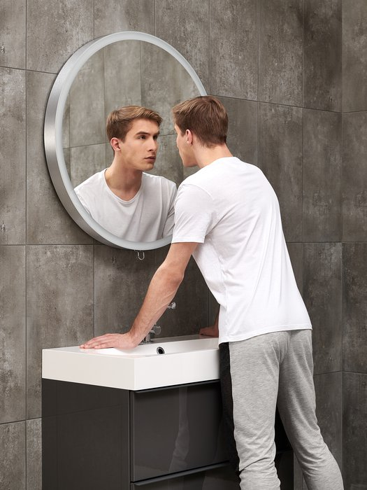 Miroir design dia. 80 cm, extensible