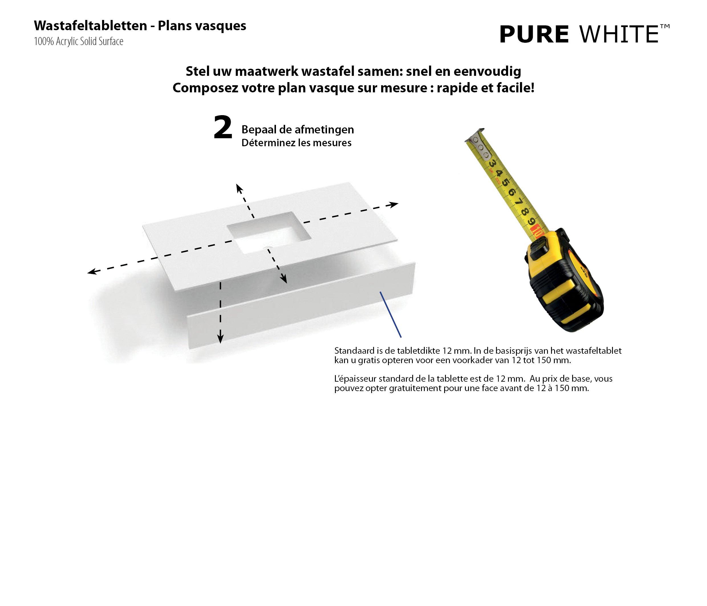 Surface Standard Salle De Bain pure white 0604.01 & 0604.02