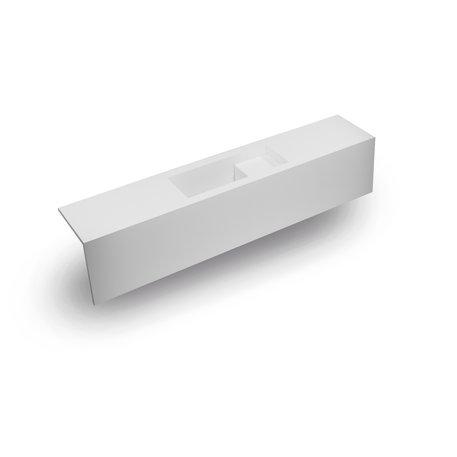 Super kleine wastafeltablet uit Solid Surface