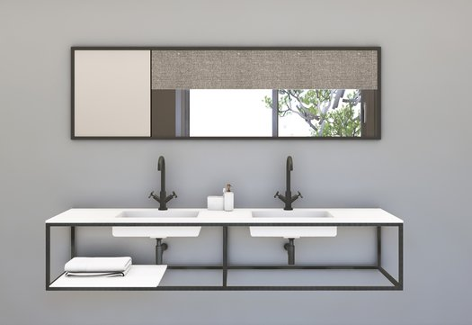 Miroir et plan vasques Pure Structure