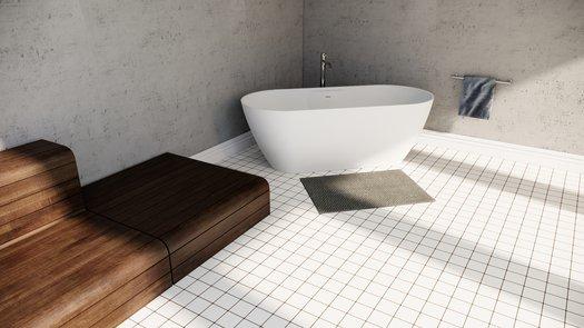 Design Titanium bad in een design badkamer
