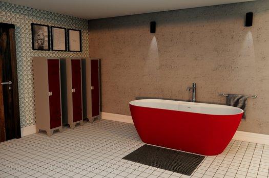 Het Titanium vrijstaande bad kan verkregen worden in elke RAL kleur