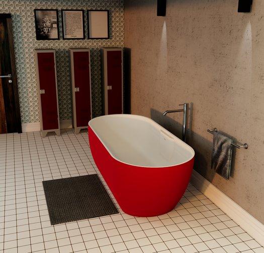 Exclusieve Titanium vrijstaand bad voor de design badkamer