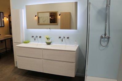 Plan vasques et meuble de salle de bains design