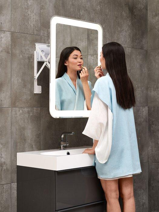 Miroir LED extensible pour une position ergonomique optimale
