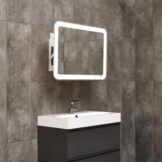 Miroir LED qui se tire vers l'avant de 80 x 60 cm