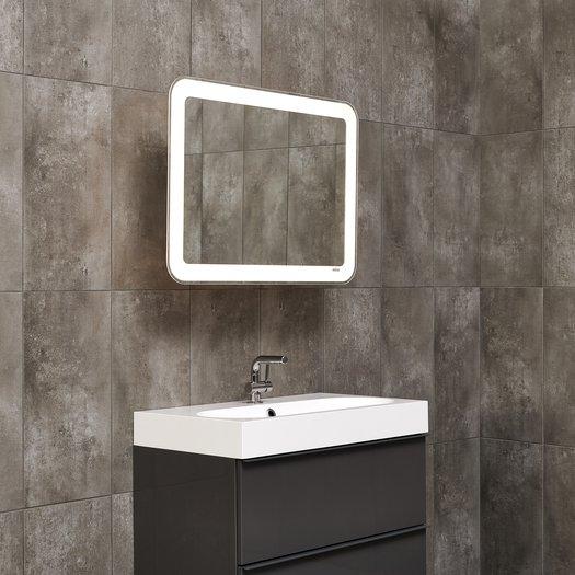 Miroir LED extensible avec coins ronds, pour une position ergonomique