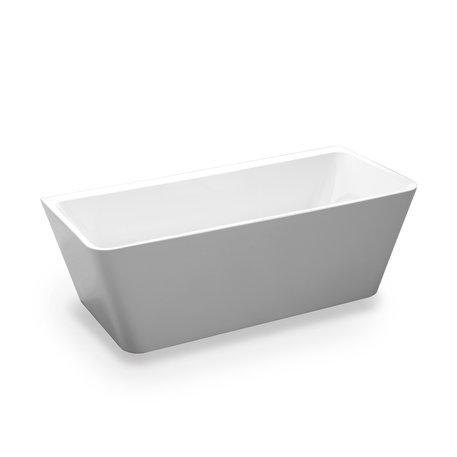 Vrijstaand bad voor plaatsing tegen wand