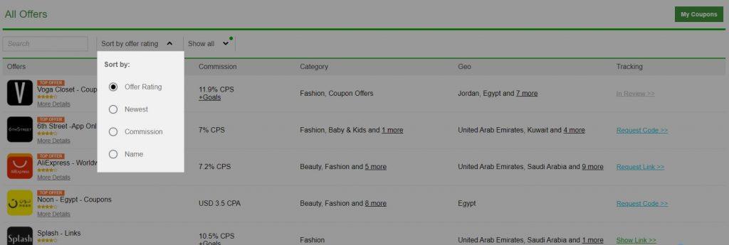 أفضل عروض عرب كليكس | تقييم العرض / تصنيف العرض - أفضل برامج التسويق بالعمولة على شبكة عرب كليكس