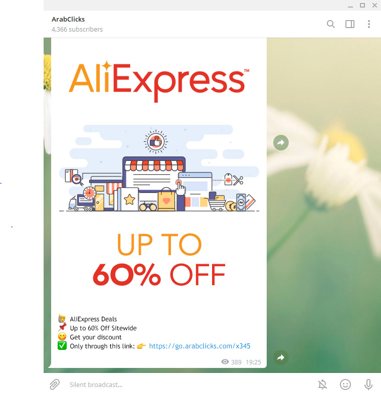 How to promote Tracking Links using your Telegram Channel - AliExpress Tracking Links