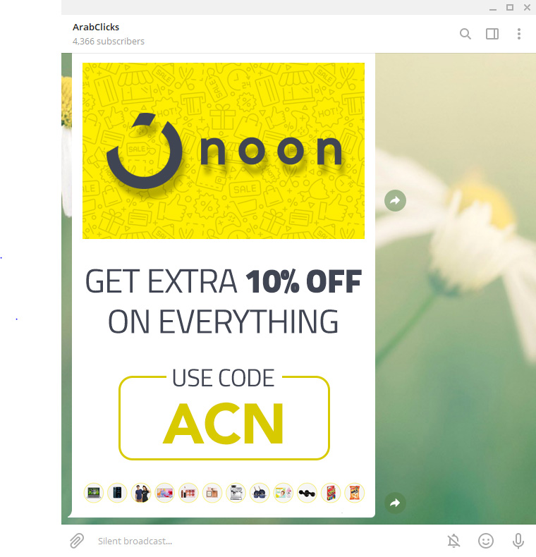 How to Promote Coupons in your Telegram Channel - Noon Coupons