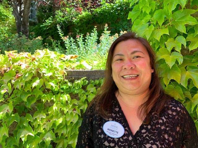 Monette, a staff member of Arbol Residences of Santa Rosa