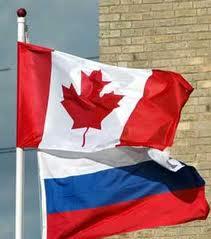 Russia Canada Flags