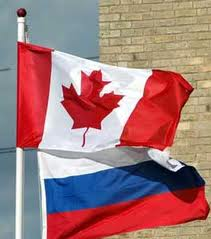 Russia Canada Flags