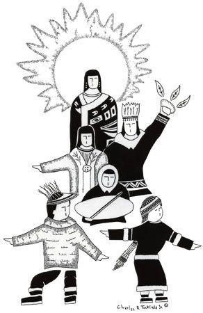 AK Native family drawing