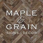 MAPLE & GRAIN • WOOD SIGNS