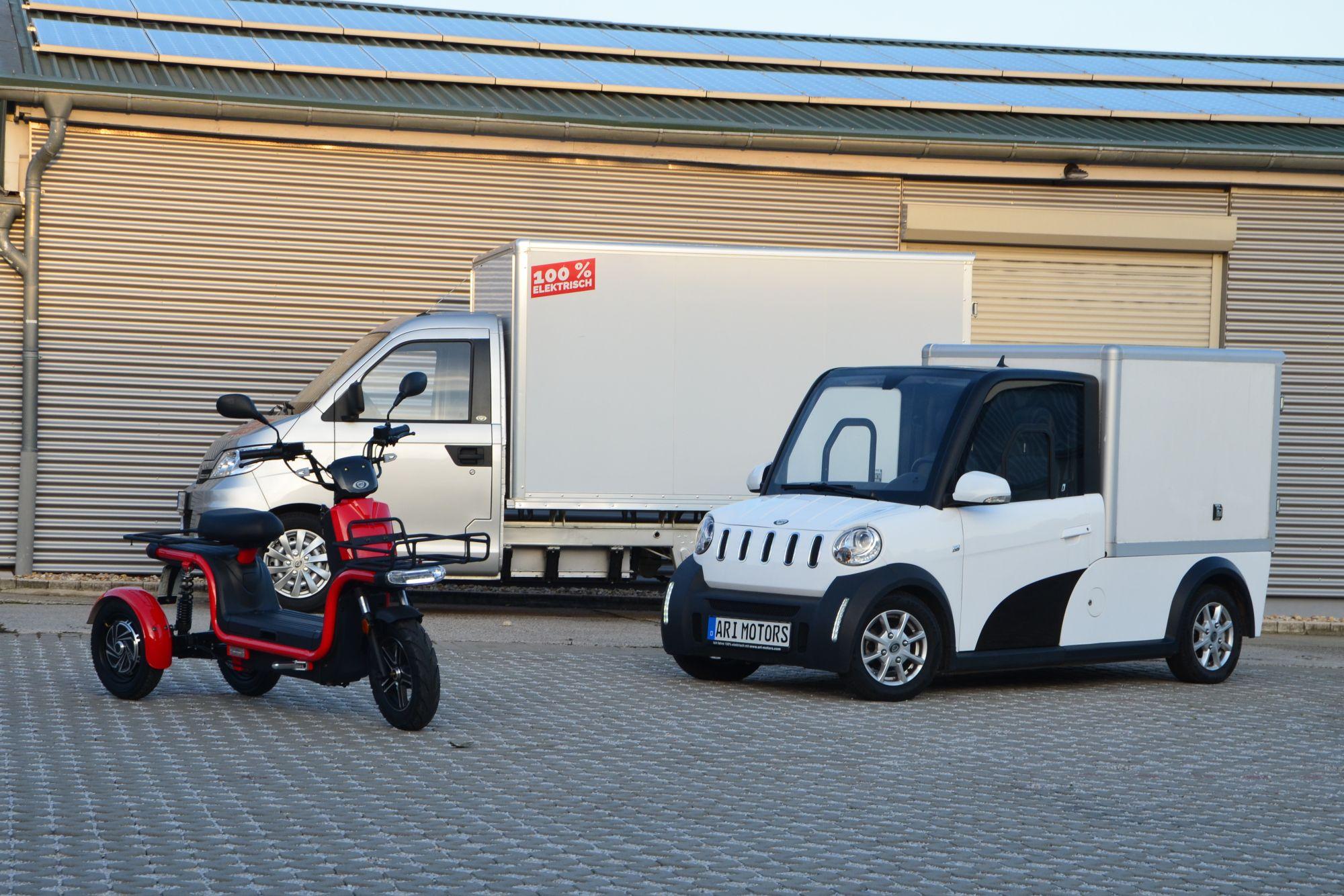 über welche Sicherheitselemente verfügen die ARI Motors Elektrofahrzeuge