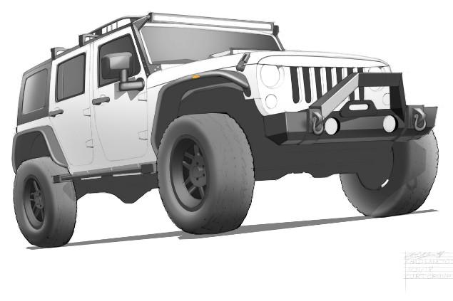 SEMA 2018 Max-Bilt Jeep JK rendering