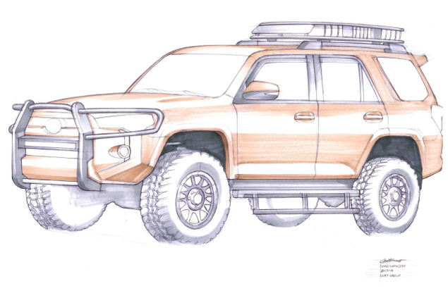 SEMA 2018 Starwood Customs 4Runner rendering