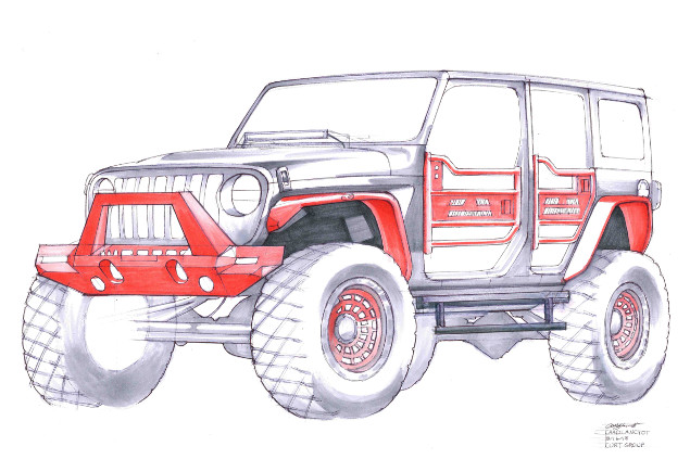 SEMA 2018 Tommy Pike Jeep JL rendering