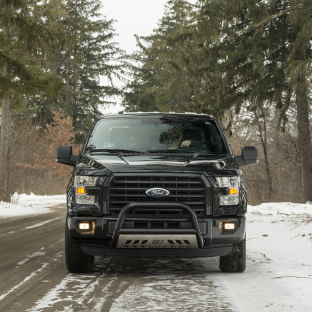 ARIES bull bar on black 2015 Ford F150 - winter