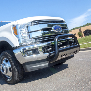 White 2017 Ford F350 Super Duty with ARIES bull bars for trucks