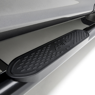 ARIES 4-inch oval black side bars and step pads
