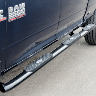 ARIES 4-inch oval side bars on blue 2014 Ram 2500