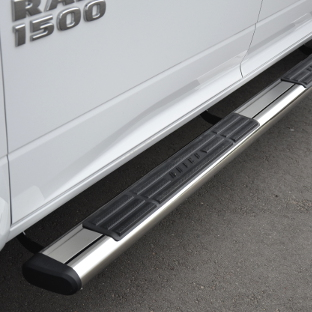ARIES stainless steel oval side bars on 2015 Ram 1500