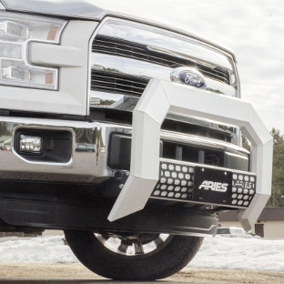 ARIES AdvantEDGE truck bull bar on white Ford F150