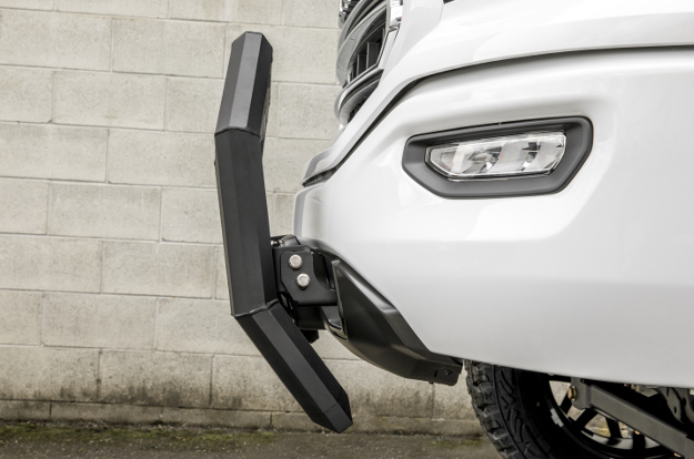 ARIES AdvantEDGE™ truck bull bar on white GMC Sierra 1500