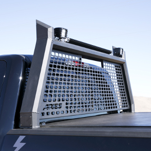 ARIES AdvantEDGE black headache rack on Ford F150