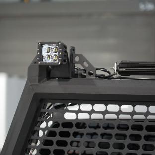 ARIES AdvantEDGE black headache rack with LED lights