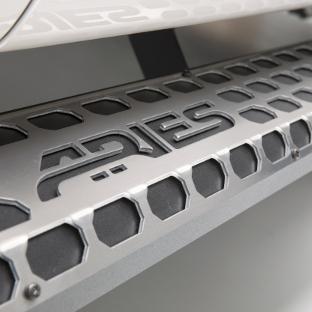 ARIES AdvantEDGE running boards raw aluminum treads