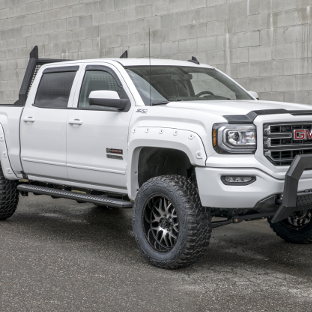Custom offroad 2016 GMC Sierra 1500 with ARIES AdvantEDGE running boards and accessories