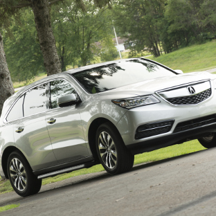 2015 Acura MDX with ARIES AeroTread SUV running boards - black
