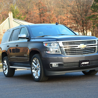 2016 Chevrolet Tahoe with ARIES AeroTread SUV running boards