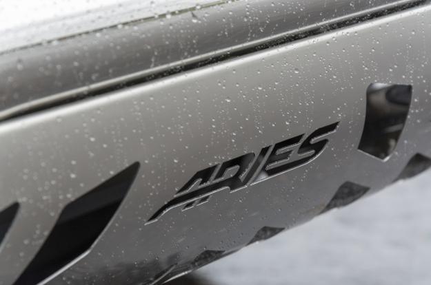 ARIES stainless steel bull bar skid plate - wet