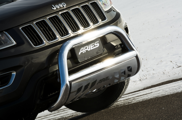 ARIES 3-inch stainless steel bull bar on Jeep Cherokee