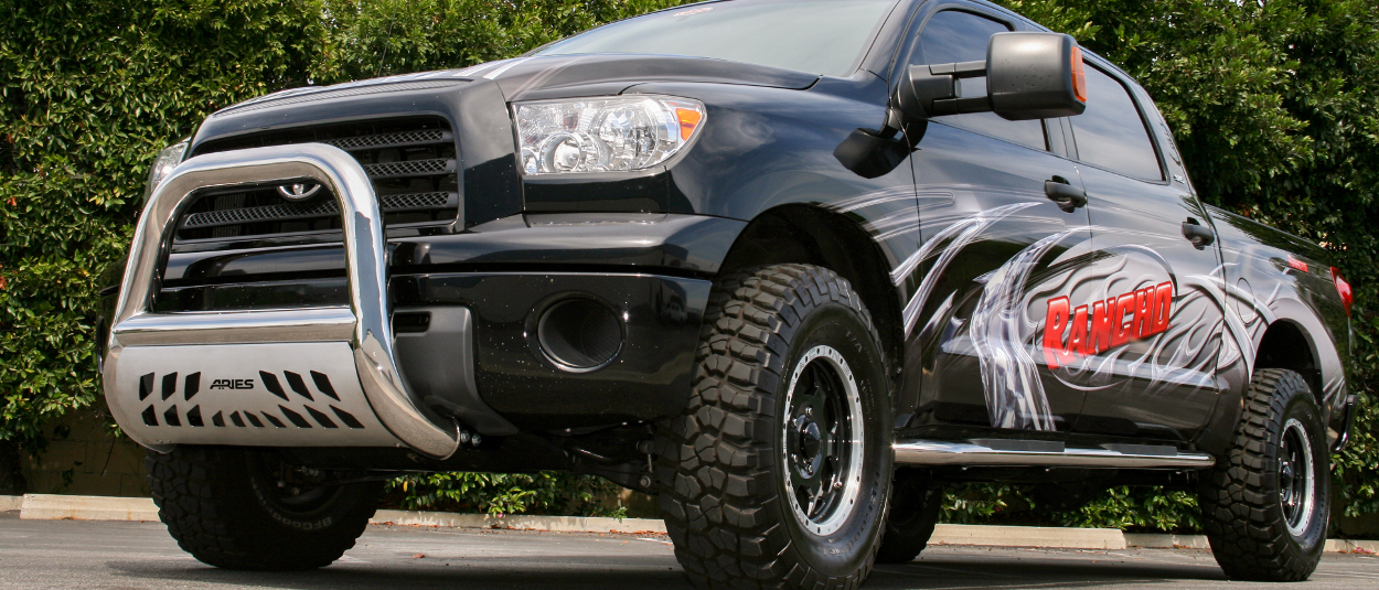 ARIES Big Horn™ bull bar on custom 2008 Toyota Tundra