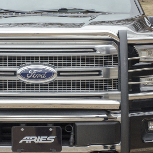 2015 Ford F150 grille with ARIES stainless steel grille guard