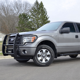 Grey 2013 Ford F150 with ARIES black grille guard