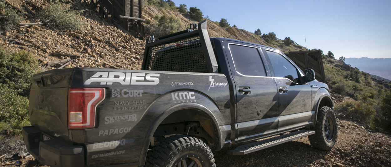 ARIES truck headache rack AdvantEDGE™ on offroad Ford F150