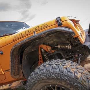 ARIES Jeep fender flares on custom orange 2013 Jeep Wrangler JK