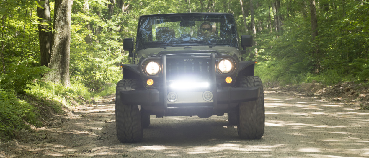 ARIES Jeep grille guard - Jeep Wrangler Pro Series™ with LED lights